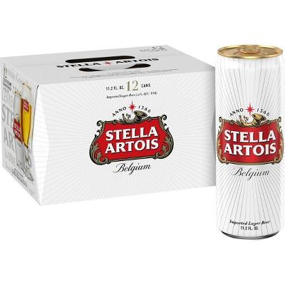Stella Artois Belgian Ale Beer - 12pk/11.2 fl oz Cans
