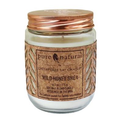 6.1oz Glass Jar Candle Wild Honey Shea - Chesapeake Bay Candle