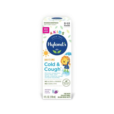 Hyland's 4 Kids Cold & Cough Daytime Syrup - Grape - 4 fl oz