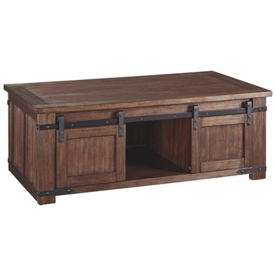 Budmore Rectangular Cocktail Table Brown - Signature Design by Ashley