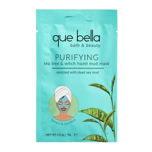Que Bella Purifying Tea Tree and Witch Hazel Mud Face Mask - 0.5oz - image 1 of 4