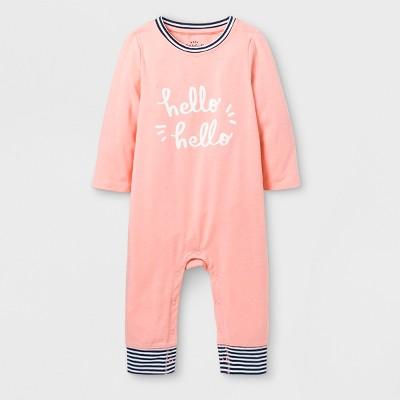 Baby Girls'  Hello Hello  Romper - Cat & Jack™ Pink 0-3M
