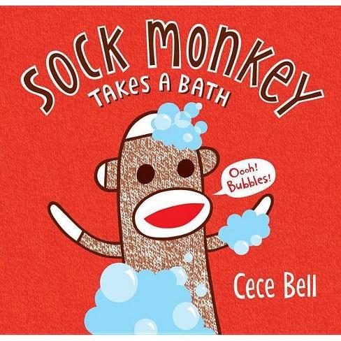 Sock Monkey Takes a Bath - (Cece Bell's Sock Monkey) by  Cece Bell (Hardcover) - image 1 of 1