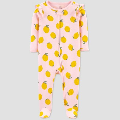 Baby Girls' Lemons Sleep N' Play - Just One You® made by carter's Pink