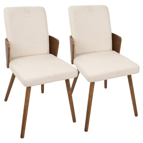 Carmella Mid Century Modern Dining Chair Set Of 2 Lumisource