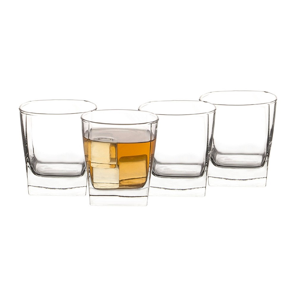 Image of 10.5oz 4pk Glass Double Old Fashion Glasses - Cathy's Concepts, Clear