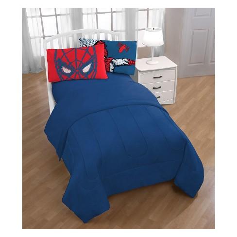 Marvel Spider-Man Standard Pillowcase Blue/Red - image 1 of 3