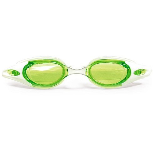 """Pool Master Advanced Pro Goggles Swimming Pool Accessory for Adults 7"""" - Green/White - image 1 of 2"""