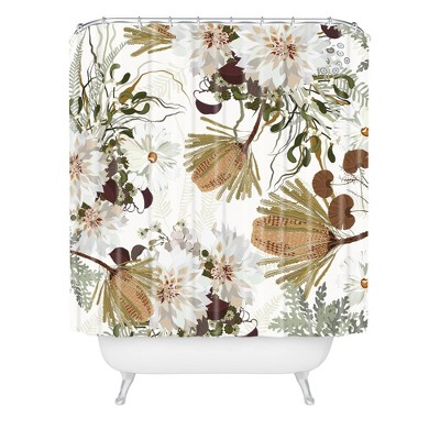 Iveta Abolina Juliette Charm Shower Curtain Brown - Deny Designs