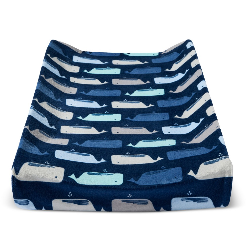 Plush Changing Pad Cover By The Sea Cloud Island 8482 Navy