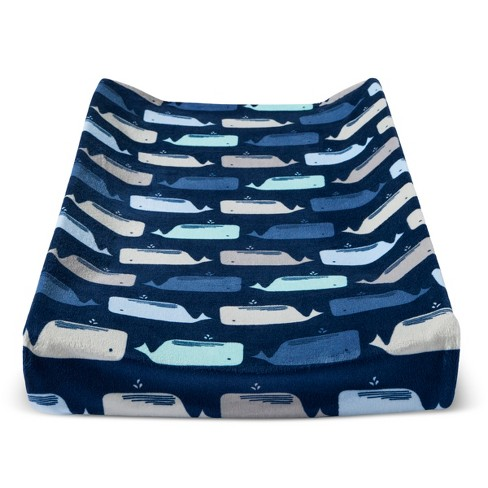Plush Changing Pad Cover By the Sea - Cloud Island™ - Navy - image 1 of 1