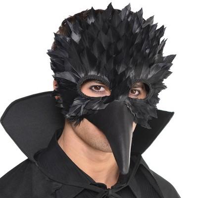 Adult Crow Feather Halloween Costume Mask
