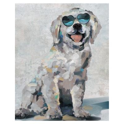 22 x28  Shady Pups III By Studio Arts Art On Canvas - Fine Art Canvas