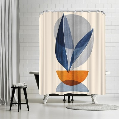 """Americanflat Nature Stack Abstract Shapes by Modern Tropical 71"""" x 74"""" Shower Curtain"""