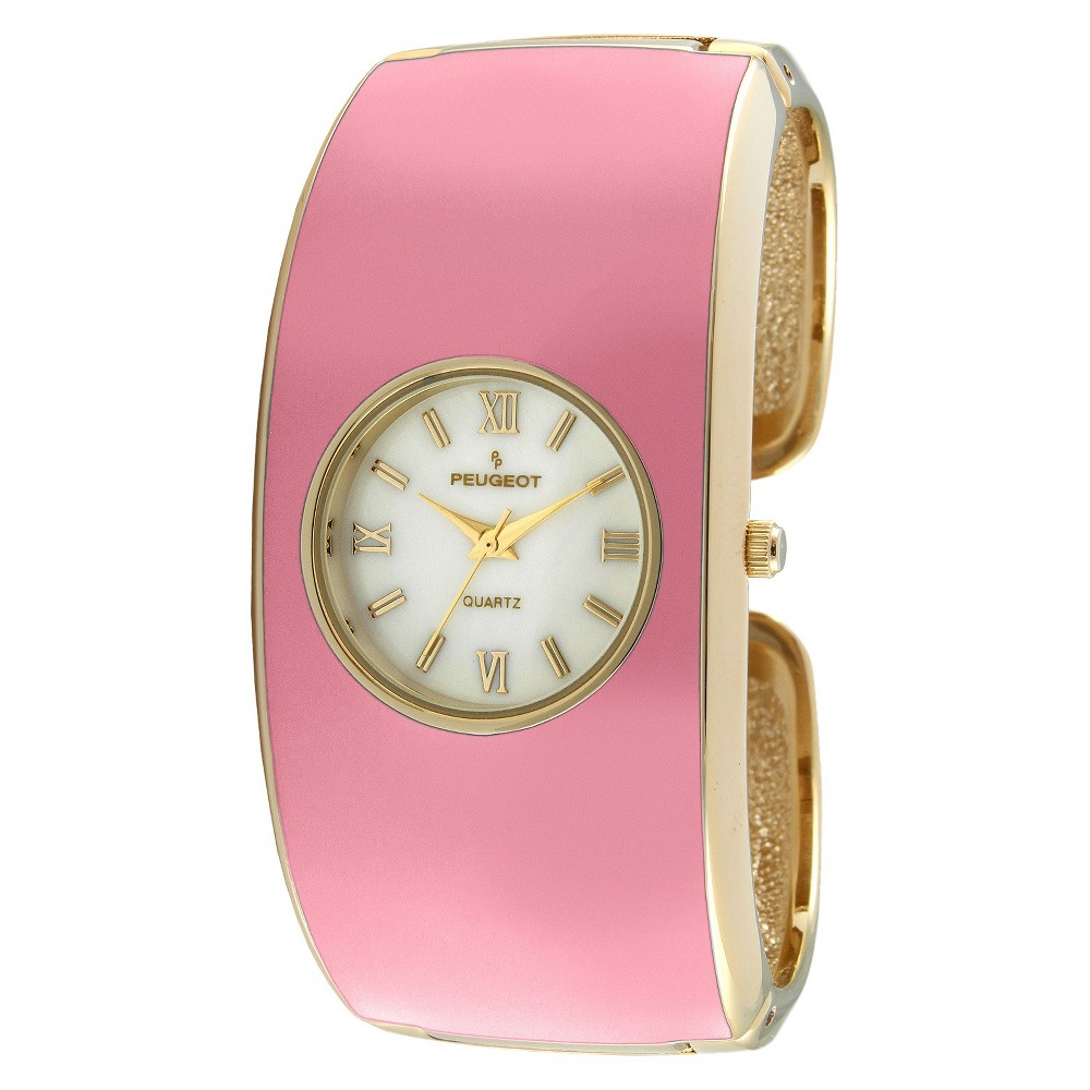 Women 39 PeugeotEnamel Cuff Watch