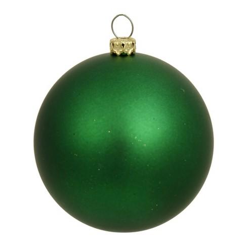 Vickerman 2 75 Matte Drilled Shatterproof Christmas Ball Ornament Green Target