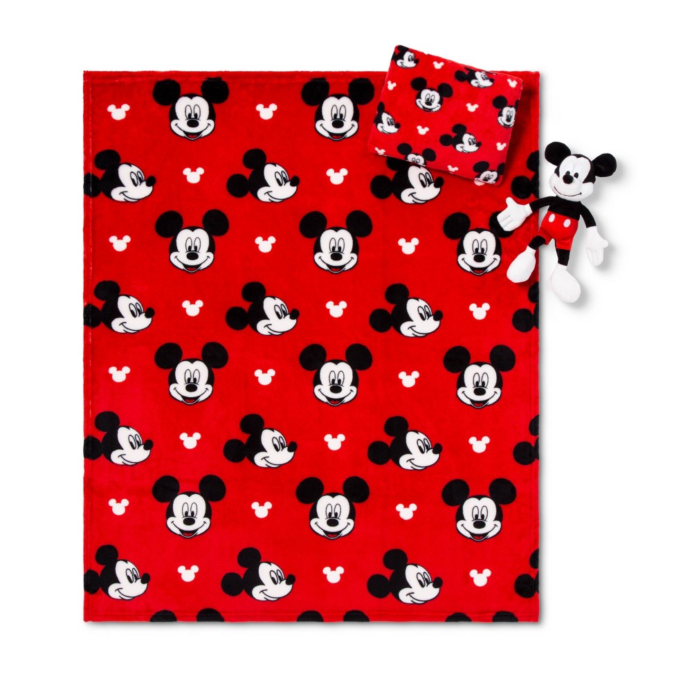 Image of Mickey Mouse Throw and Pillow Set