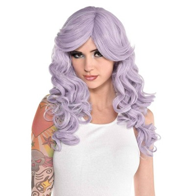 Dusty Lavender Halloween Costume Wig