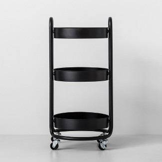 Round Metal Utility Cart Matte Black - Made By Design™