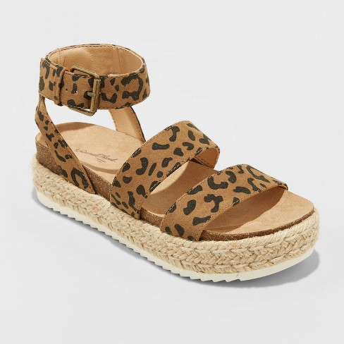 Women's Agnes Microsuede Espadrille Platform Sandals - Universal Thread™ - image 1 of 3