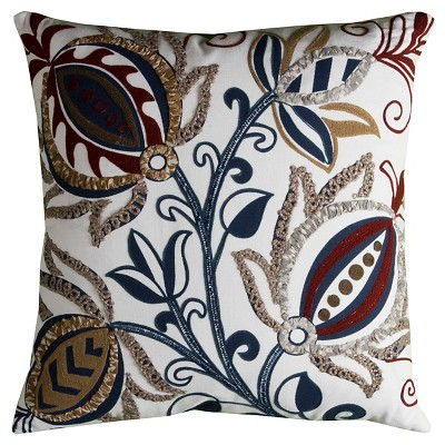 Floral Pattern Throw Pillow (20 x20 )- Rizzy Home®