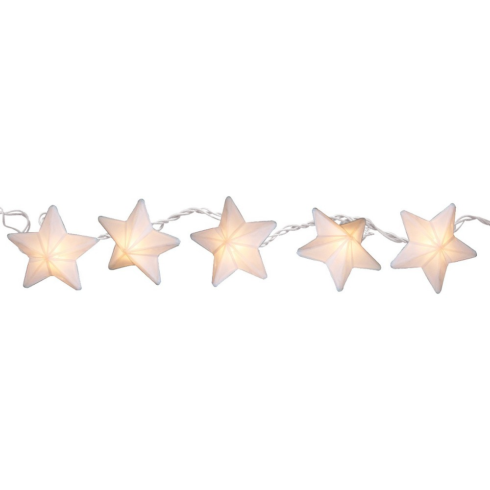 11' Paper Star String Lights - White - Room Essentials