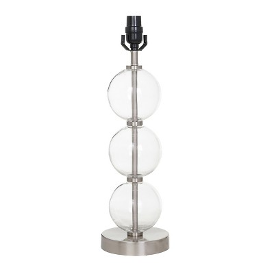 Large Stacked Clear Glass Ball Table Lamp Base Nickel - Threshold™