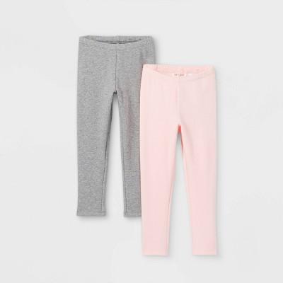 Toddler Girls' 2pk Cozy Lined Leggings - Cat & Jack™ Gray/Pink