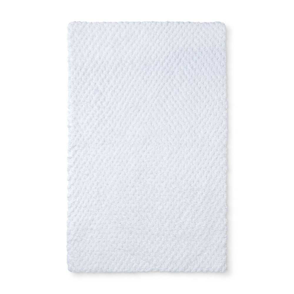 "Image of ""34""""x20"""" Tufted Accent Bath Rug White - Fieldcrest"""