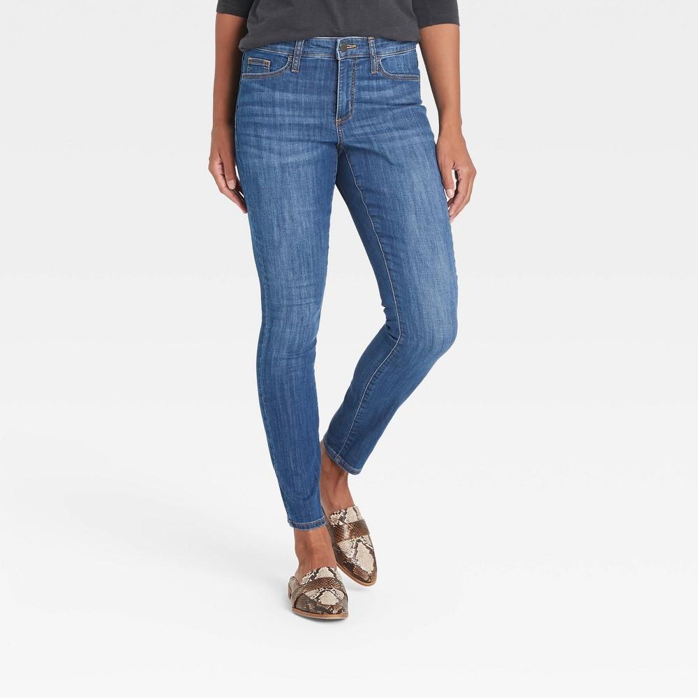 Women 39 S Mid Rise Skinny Jeans Universal Thread 8482 Blue Mist 0