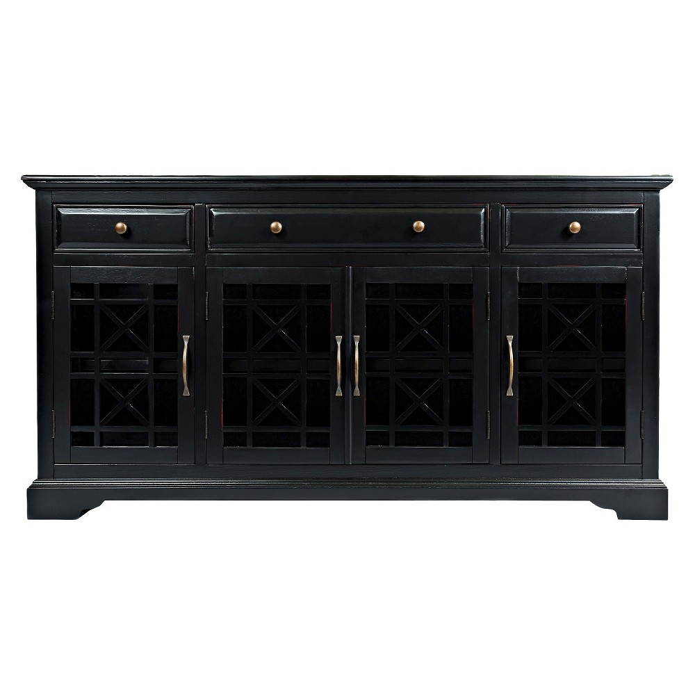 "Image of ""Craftsman Media Stand 60""""-70"""" - Jofran Inc., Antique Black Gold"""