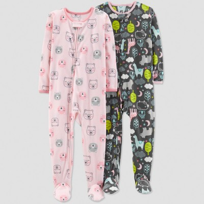 Baby Girls' Bear Pajama Set - Just One You® made by carter's Pink 9M