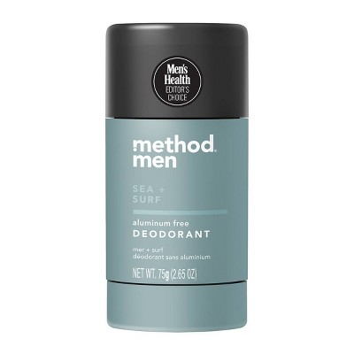 Method Men Aluminum Free Deodorant - Sea + Surf - 2.65oz