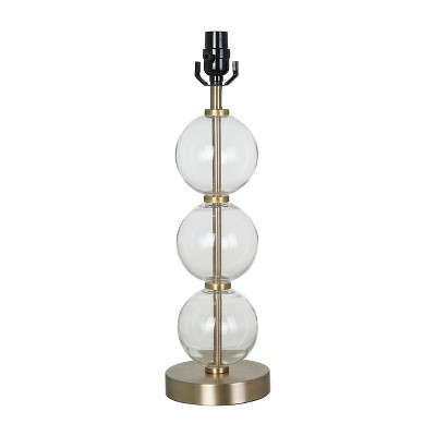 Large Stacked Clear Glass Ball Table Lamp Base Antiqued Brass - Threshold™