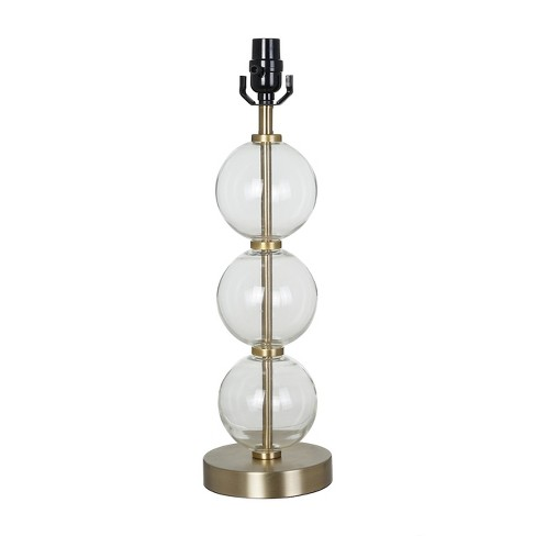 large stacked clear glass ball table lamp base antiqued brass threshold target. Black Bedroom Furniture Sets. Home Design Ideas