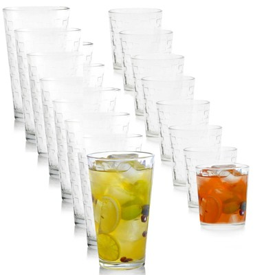 Gibson Home 16pc Glass Tumbler and Double Old Fashioned Set