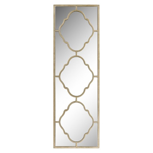 Rectangle Suharo Decorative Wall Mirror Gold - Surya - image 1 of 1