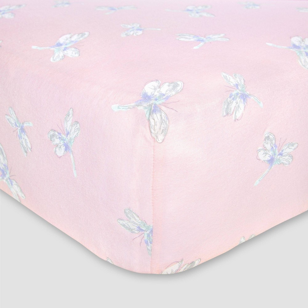 Image of Burt's Bees Baby Organic Fitted Crib Sheet - Dragon Fly