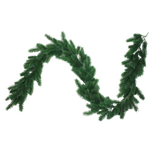 Artificial Christmas Garland.Northlight 6 X 8 Unlit Green Pine Artificial Christmas Garland