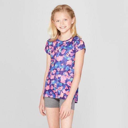 48a849fd9 Girls' Printed Tulips Tech T-Shirt- C9 Champion® : Target