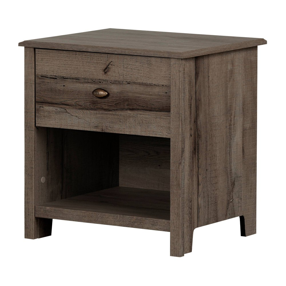 Image of Asten 1 Drawer Nightstand Fall Oak - South Shore, Brown