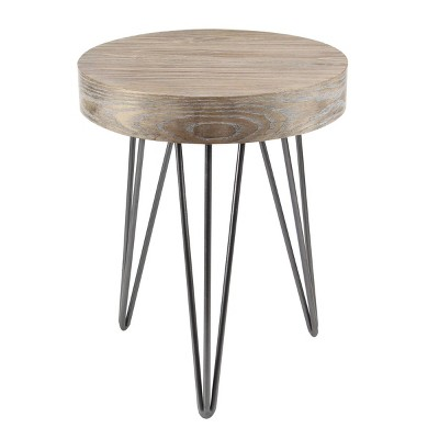 Modern Wood and Metal Accent Table Brown - Olivia & May