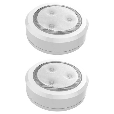 Brilliant Evolution 2pk Wireless LED Under Cabinet Puck Light