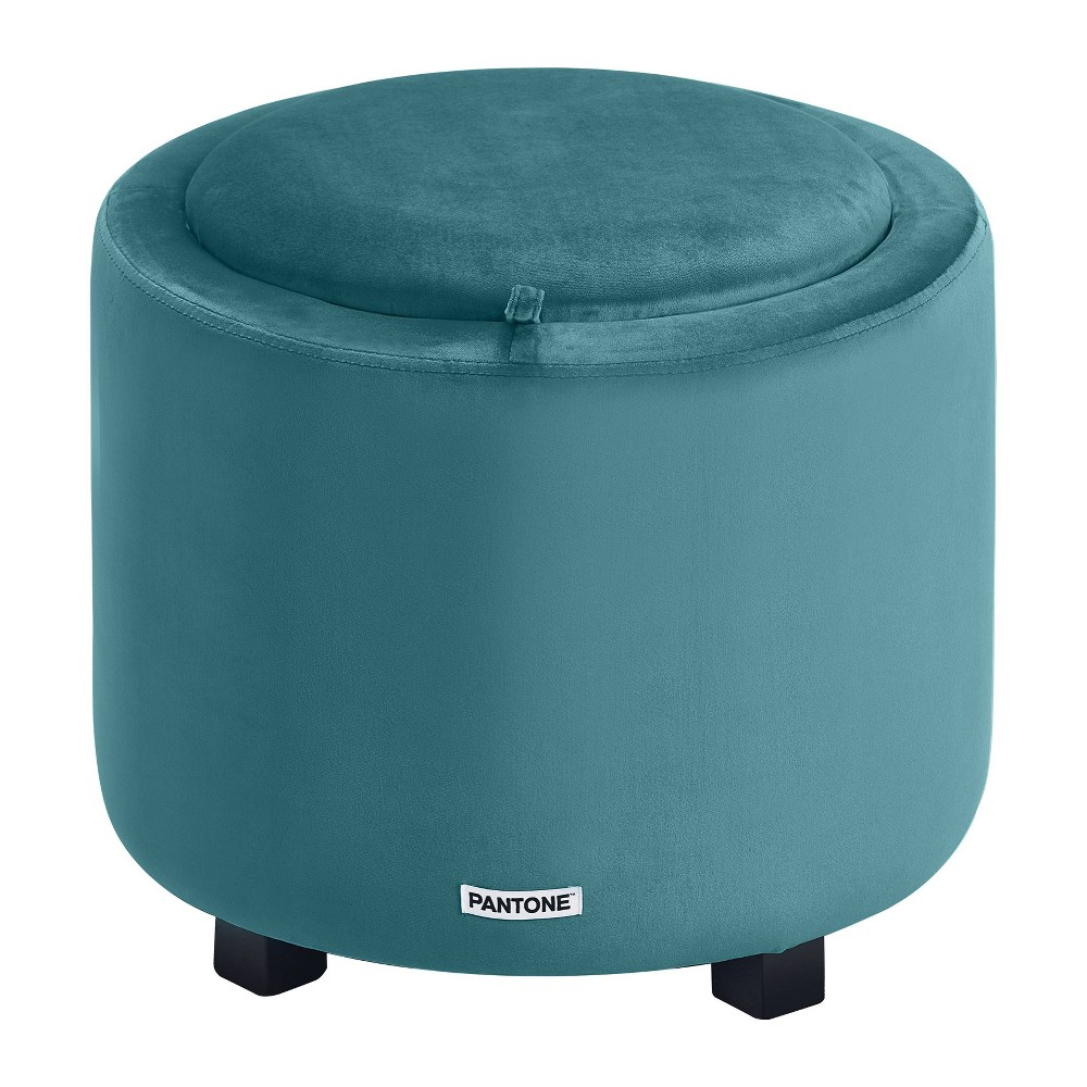 Image of Pantone Color Collection Short Storage Stool Blue - Pantone