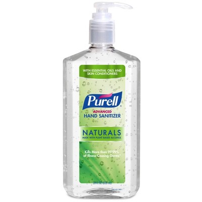 PURELL Advanced Hand Sanitizer Naturals with Plant Based Alcohol Pump Bottle - 28 fl oz