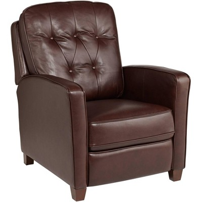 Elm Lane Livorno Chocolate Leather 3-Way Recliner Chair