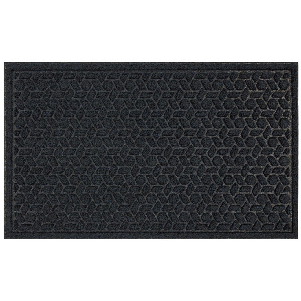 "Image of ""1'6""""X2'6"""" Solid Tufted Doormats Navy (Blue) - Mohawk"""