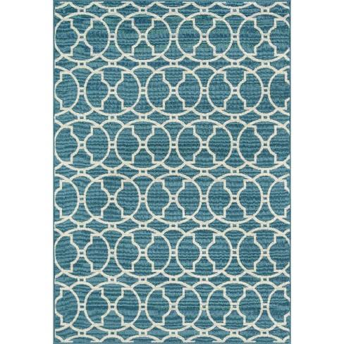 Blue Indoor Outdoor Calypso Area Rug Blue 8 6 X13 Momeni Target
