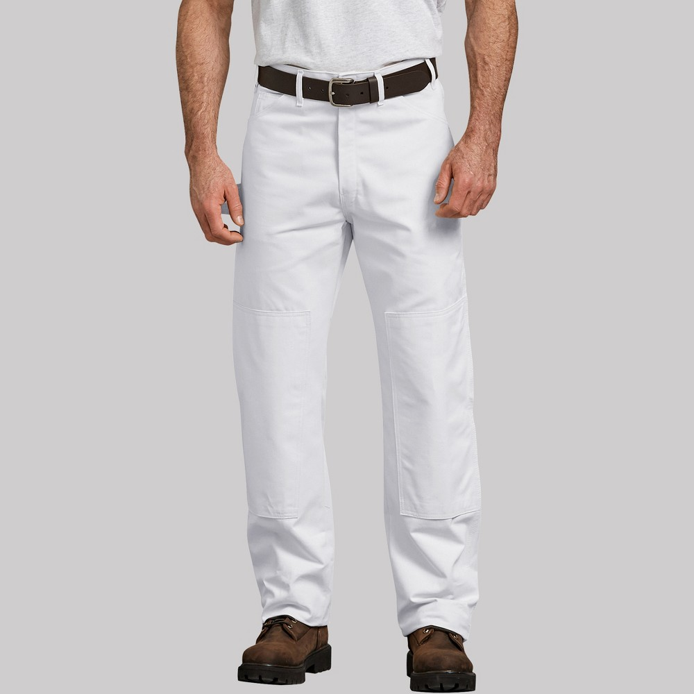 Dickies Men's Straight Fit Trousers - White 30x32