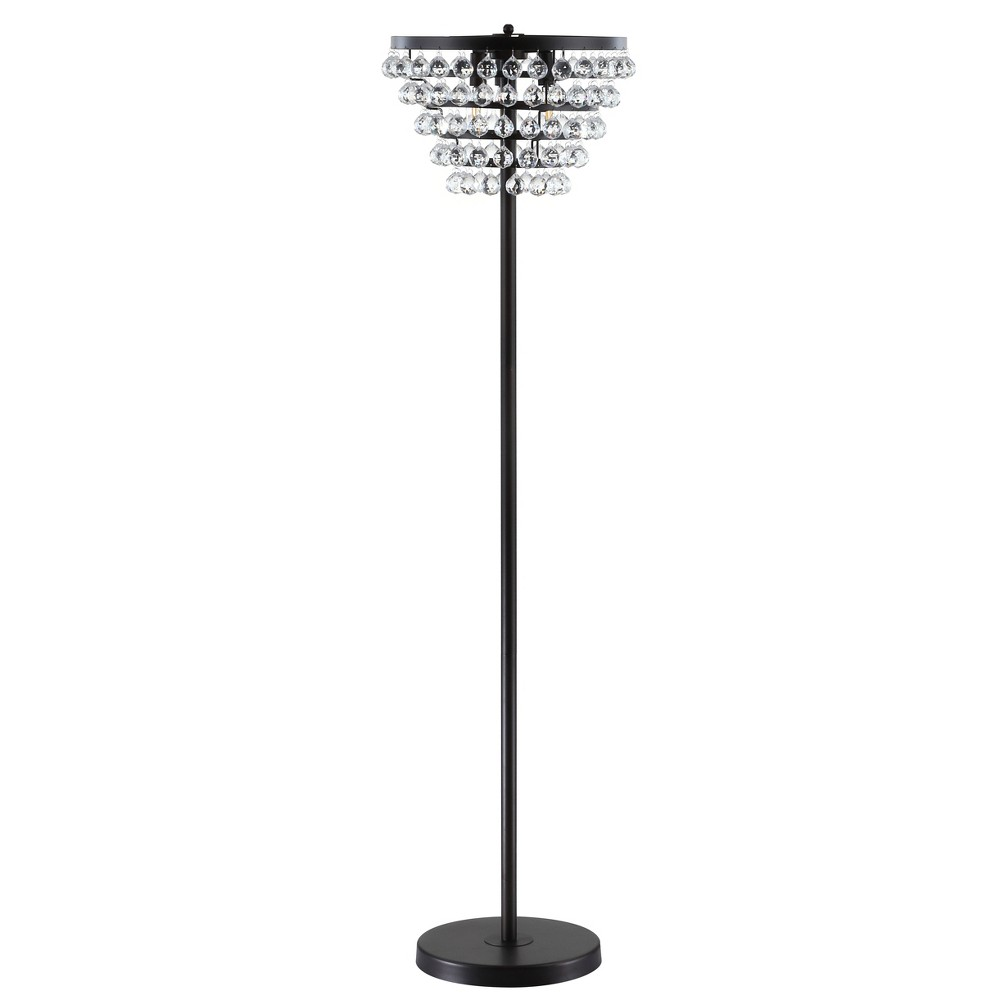 60 Jemma Crystal/Metal Led Floor Lamp Bronze - Jonathan Y